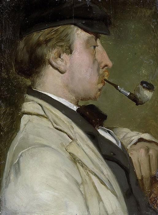 Маттхейс Марис -- Портрет художника Людвига Казимира «Луис» Сирига (1834-1919), 1856. Рейксмузеум: часть 3