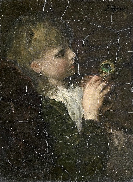 Maris, Jacob -- Meisje met pauwenveer, 1877. Rijksmuseum: part 3