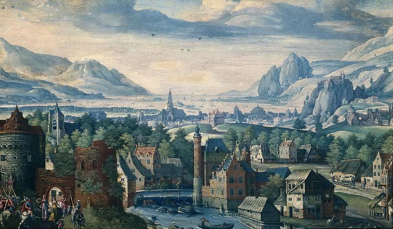 Savery, Jacob (I) -- Landschap met de geschiedenis van de dochter van Jefta, 1580-1589. Rijksmuseum: part 3