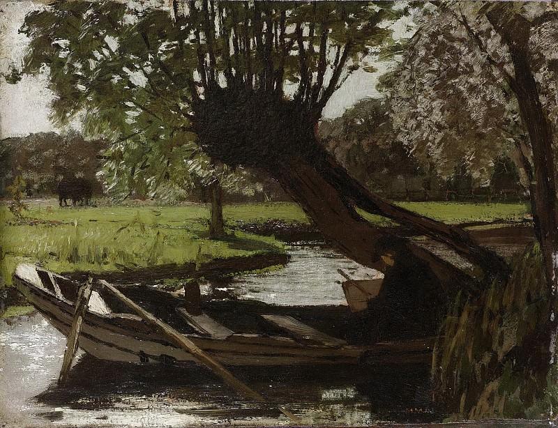 Maris, Matthijs -- Boot met knotwilg, 1863. Rijksmuseum: part 3