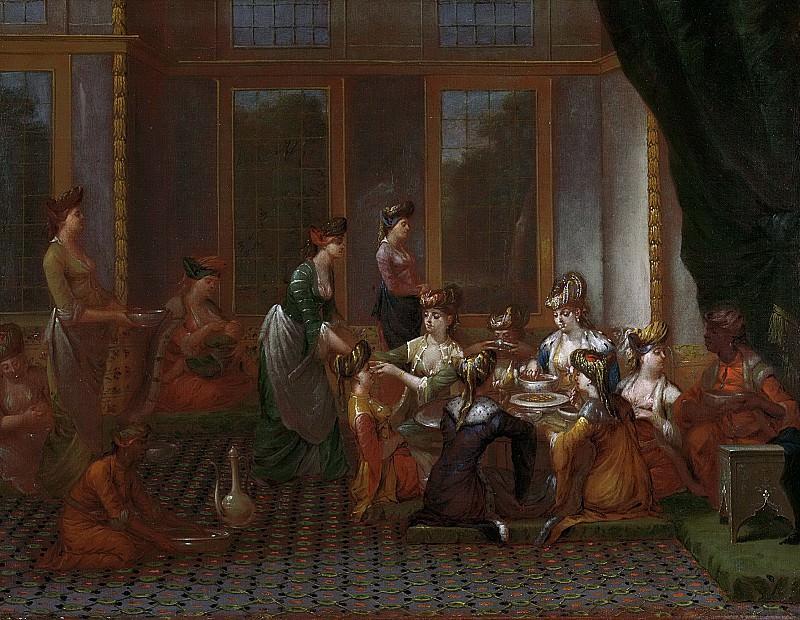 Жан Батист Ванмур -- Обед знатных турчанок, 1727-1737. Рейксмузеум: часть 3
