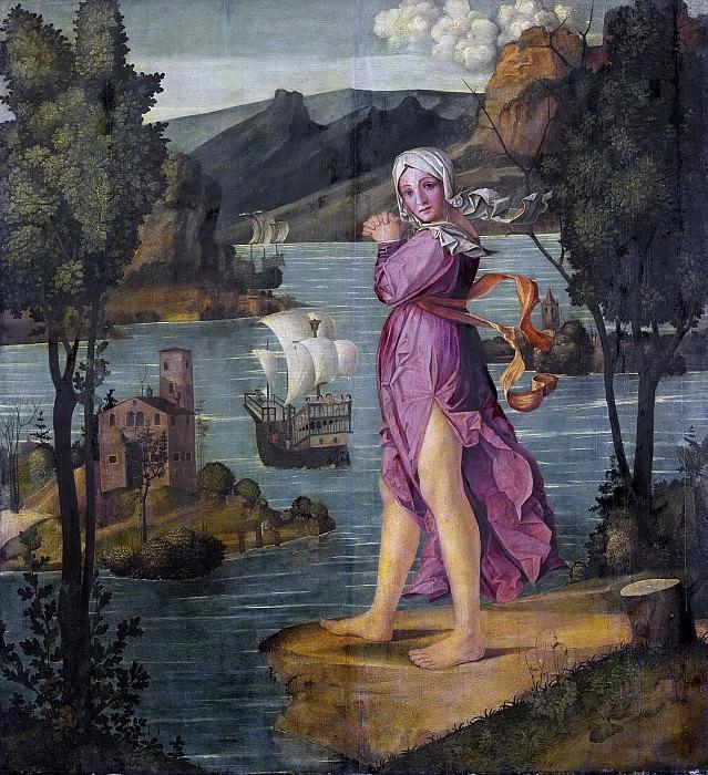 Girolamo dai Libri -- Vrouw staande aan de waterkant, 1510-1530. Rijksmuseum: part 3
