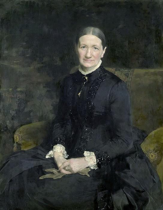 Питер де Йосселин де Йонг -- Госпожа А.Й.Зубли-Масхаупт, 1887. Рейксмузеум: часть 3