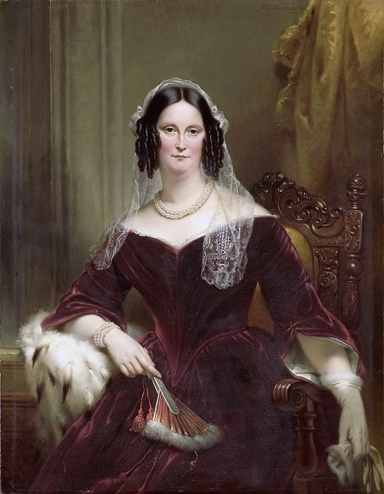 Kruseman, Jan Adam -- Dieuwke Fontein (1800-79). Tweede echtgenote van Adriaan van der Hoop (getrouwd 1834), 1844. Rijksmuseum: part 3