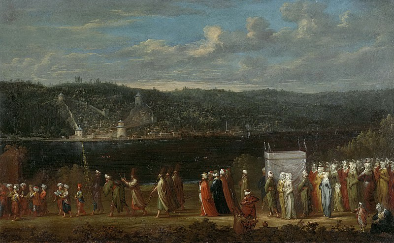 Vanmour, Jean Baptiste -- Turkse bruiloft, 1727-1737. Rijksmuseum: part 3