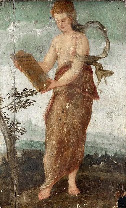 Sustris, Lambert -- Vrouw met schrijftafeltje, 1540-1570. Rijksmuseum: part 3