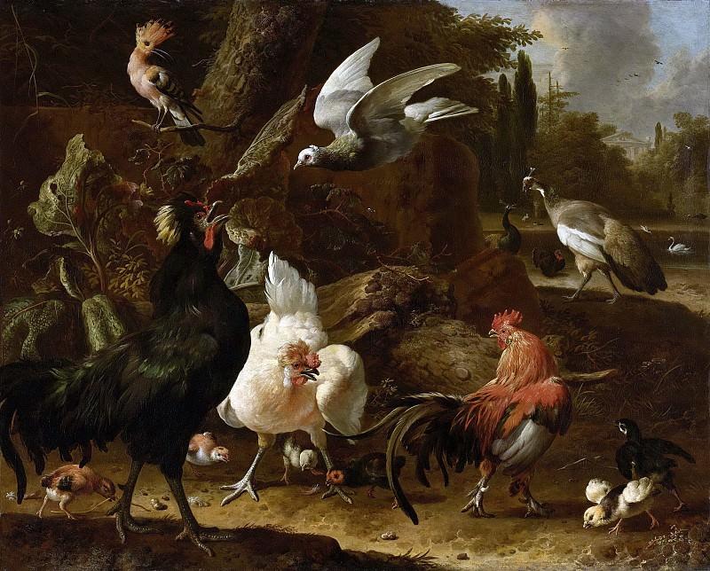 Мельхиор д Хондекутер -- Птицы в парке, 1686. Рейксмузеум: часть 3