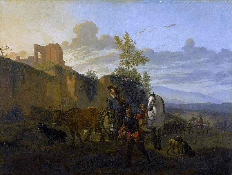 Dujardin, Karel -- Italiaans landschap met soldaten, 1652-1700. Rijksmuseum: part 3