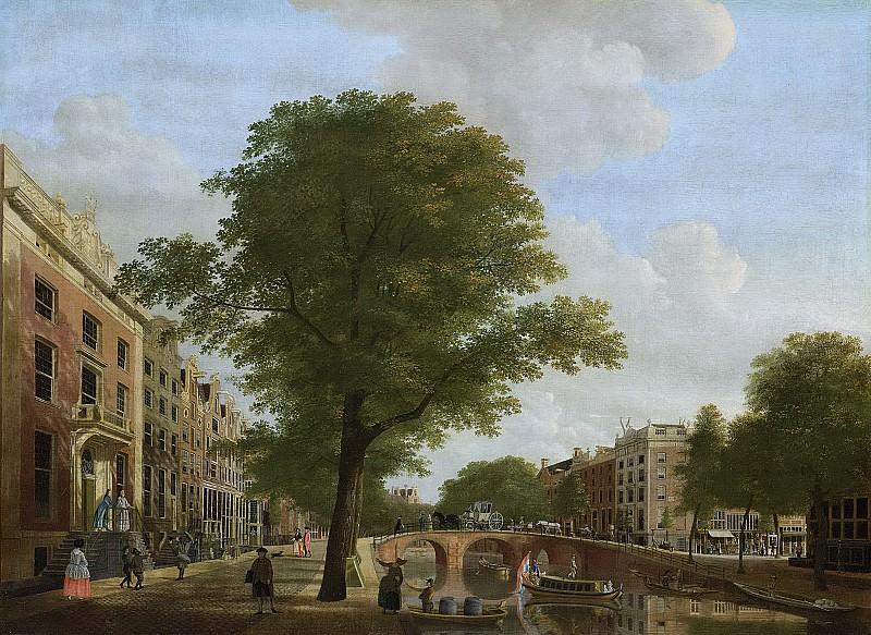 Keun, Hendrik -- Gezicht op de Herengracht bij de Leidsestraat te Amsterdam, 1774. Rijksmuseum: part 3