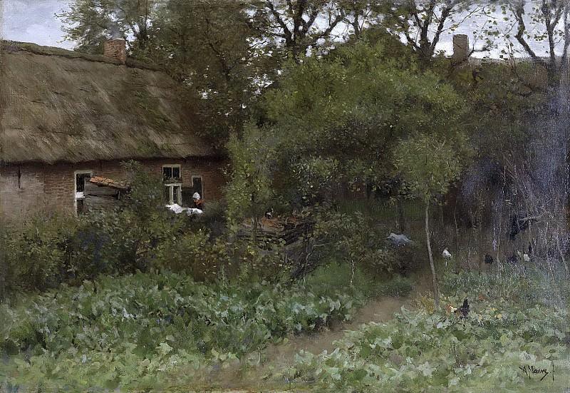 Антон Мауве-- Запущенный сад, 1885-1888. Рейксмузеум: часть 3