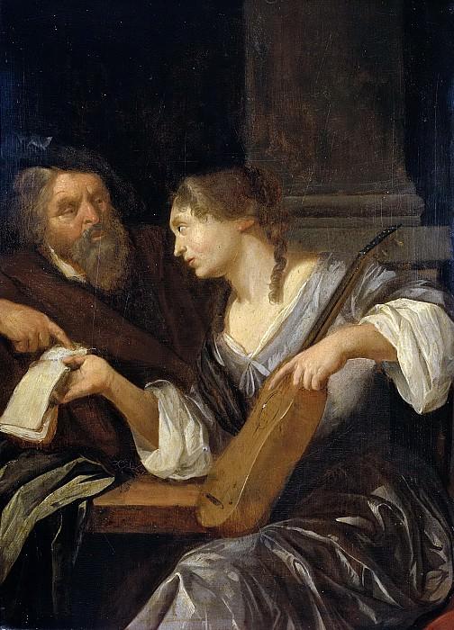 Якоб Торенфлит -- Урок музыки, 1660-1690. Рейксмузеум: часть 3