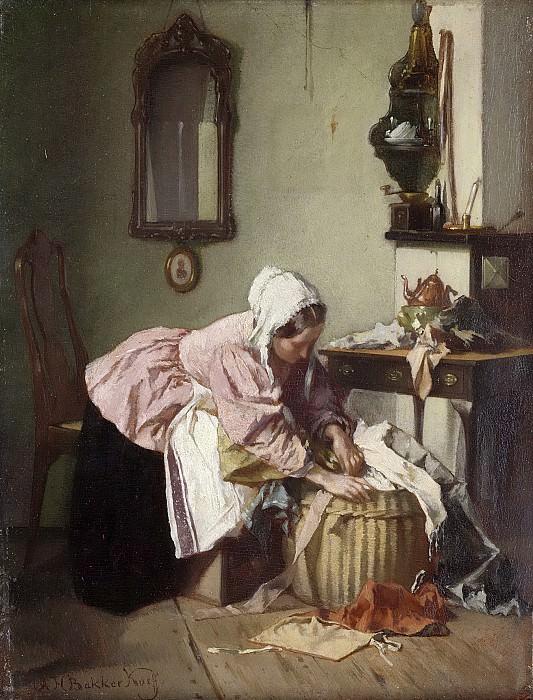 Александер Хуго Баккер Корф -- Корзина с лоскутами, 1850-1882. Рейксмузеум: часть 3