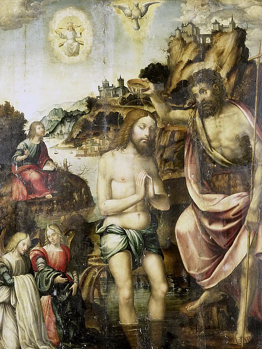 Неизвестный художник -- Крещение Христа, 1500-1549. Рейксмузеум: часть 3