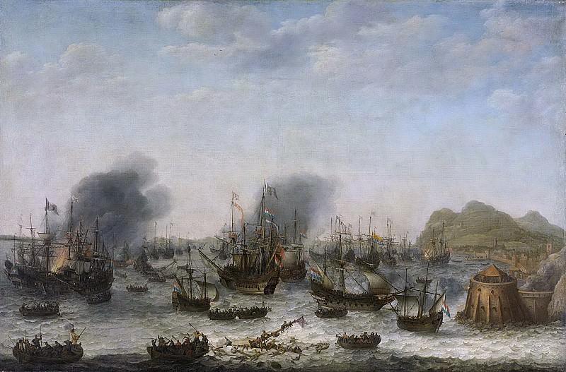 Адам Виллартс -- Победа над испанцами у Гибралтара 25 апреля 1607 г. благодаря флоту под началом адмирала Якоба ван Хемскерка, 1639. Рейксмузеум: часть 3
