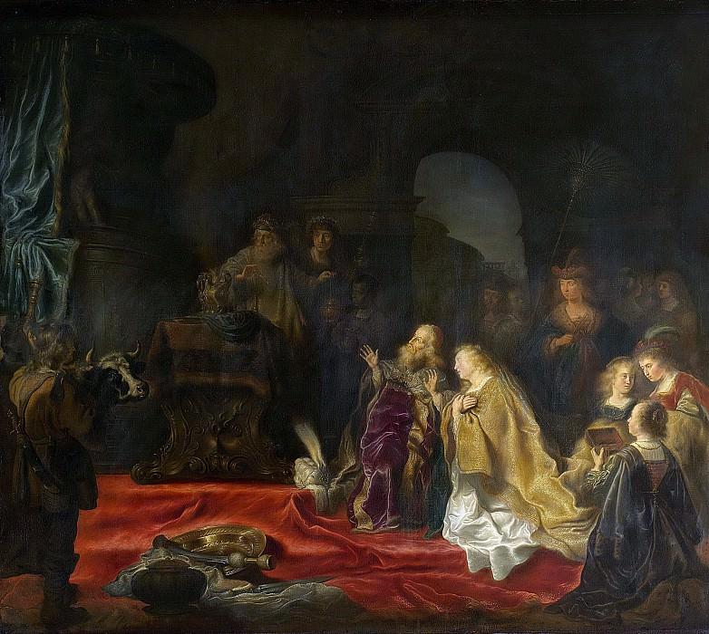 Koninck, Salomon -- De afgoderij van koning Salomo, 1644. Rijksmuseum: part 3