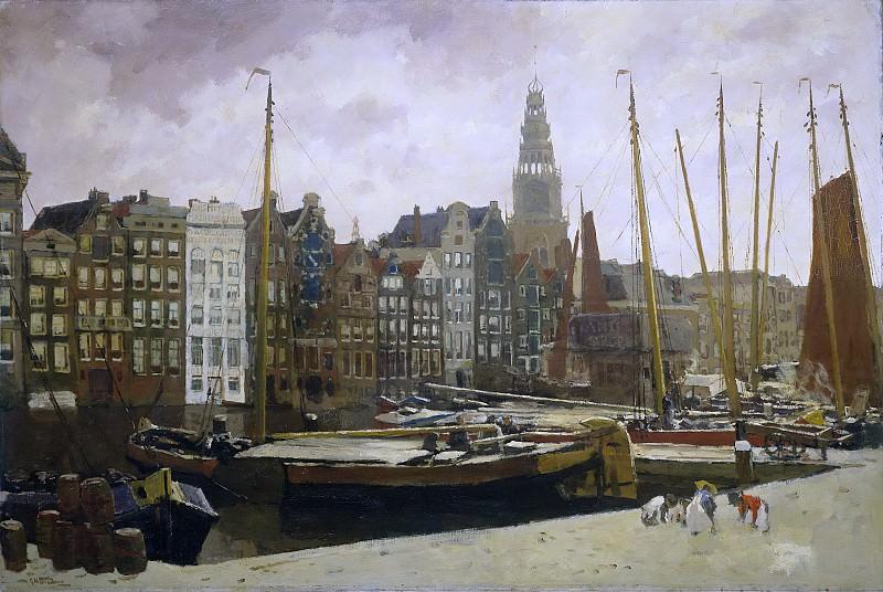 Breitner, George Hendrik -- Het Damrak te Amsterdam, 1903. Rijksmuseum: part 3