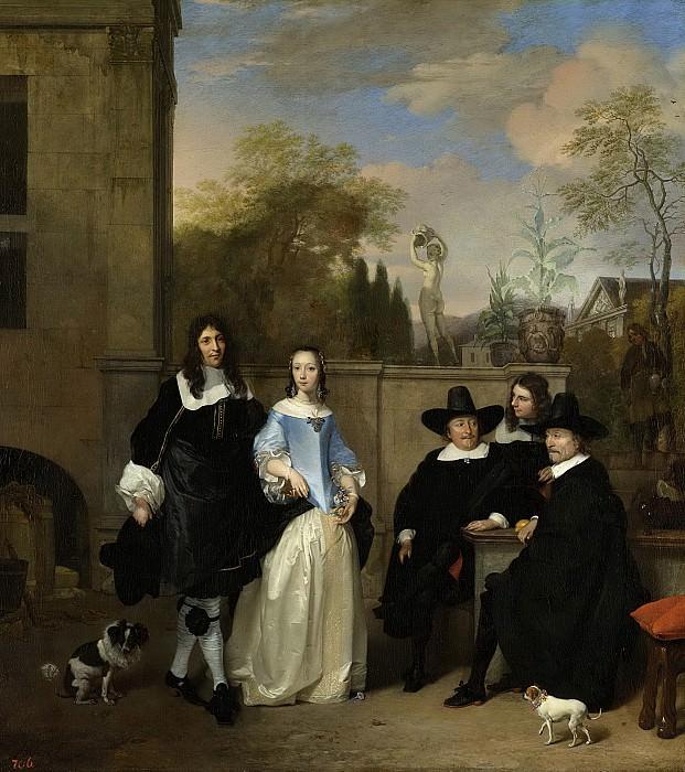 Баренд Граат -- Компания в саду, 1661. Рейксмузеум: часть 3