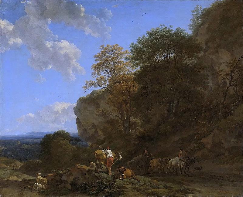 Berchem, Nicolaes Pietersz. -- Italiaans landschap, 1650-1683. Rijksmuseum: part 3