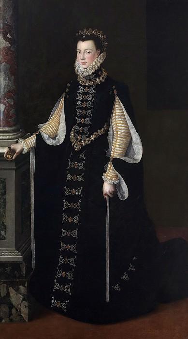 Anguissola, Sofonisba (Atribuido a) -- Isabel de Valois sosteniendo un retrato de Felipe II. Part 3 Prado Museum