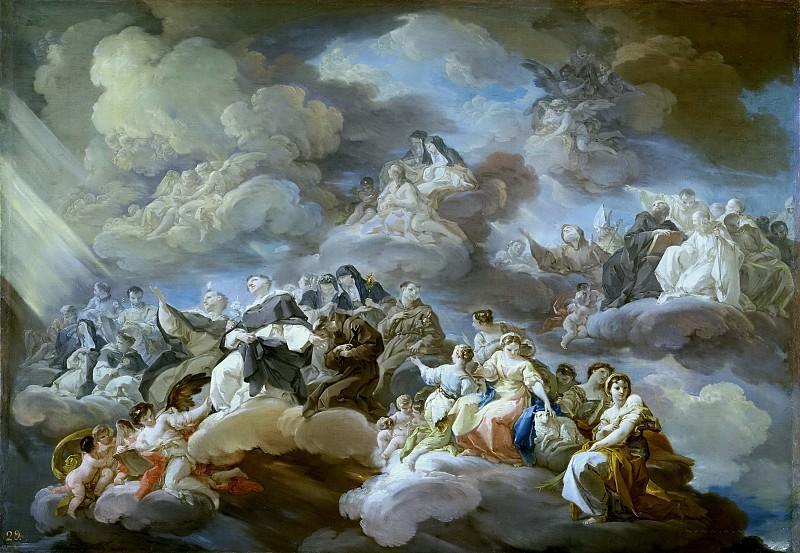 Giaquinto, Corrado -- El Paraíso. Part 3 Prado Museum