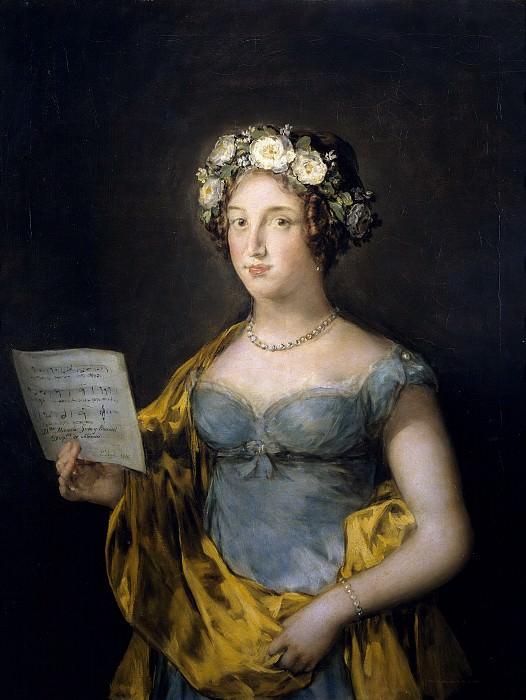 Goya y Lucientes, Francisco de -- La duquesa de Abrantes. Part 3 Prado Museum