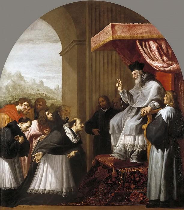 Carducho, Vicente -- San Bruno y sus seis compañeros se presentan ante San Hugo. Part 3 Prado Museum