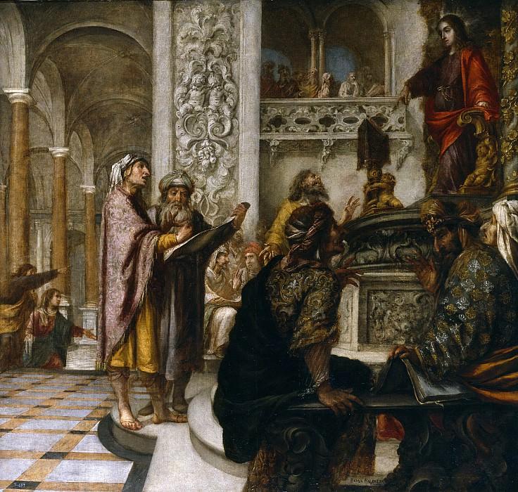 Valdés Leal, Juan de -- Jesús disputando con los doctores. Part 3 Prado Museum