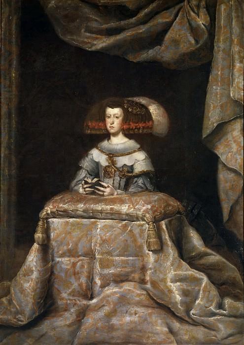 Веласкес, Диего Родригес де Сильва и (мастерская) -- Молящаяся Мариана Австрийская, королева Испании. Часть 3 Музей Прадо