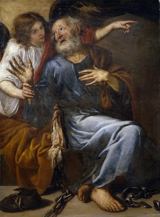 Переда и Сальгадо, Антонио де -- Св Петр, освобождаемый ангелом из тюрьмы. Часть 3 Музей Прадо