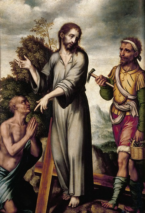 Morales, Luis de -- Asunto místico: Alegoría de Cristo en el Calvario. Part 3 Prado Museum
