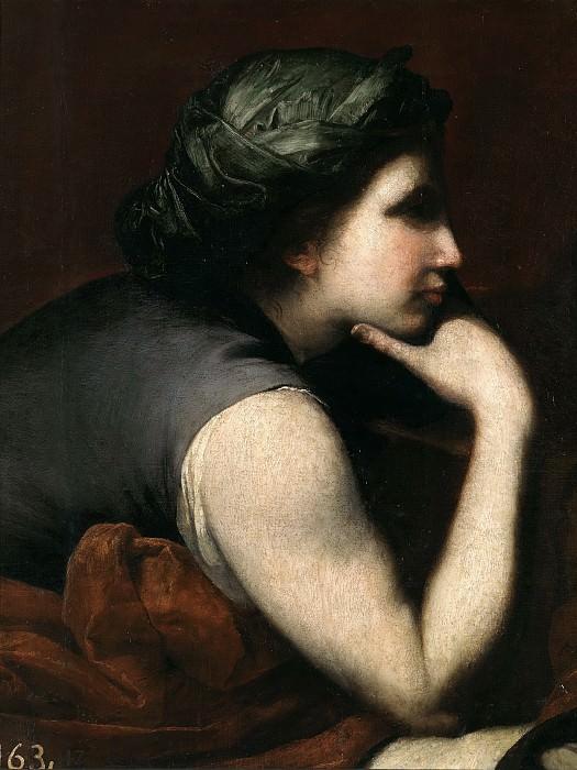 Ribera, José de -- Media figura de mujer (fragmento de El triunfo de Baco). Part 3 Prado Museum