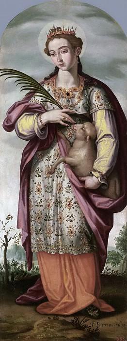 Пачеко, Франсиско -- Святая Агнесса. Часть 3 Музей Прадо