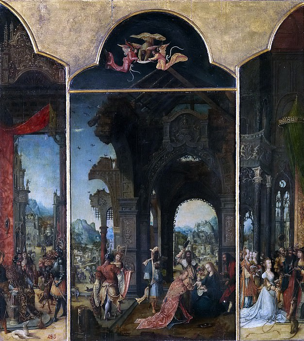 Pseudo-Blesius -- La Adoración de los Reyes Magos (tríptico). Part 3 Prado Museum