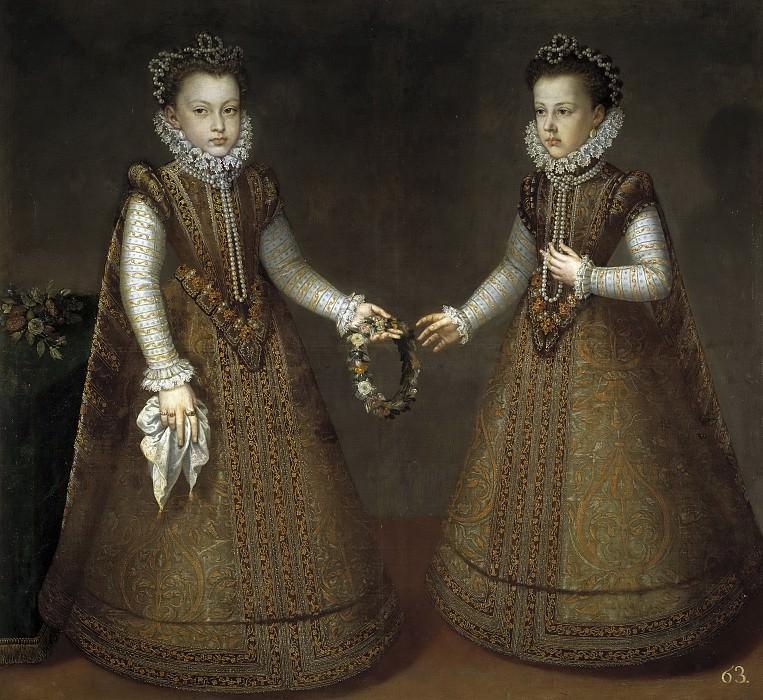 Sánchez Coello, Alonso -- Las infantas Isabel Clara Eugenia y Catalina Micaela. Part 3 Prado Museum