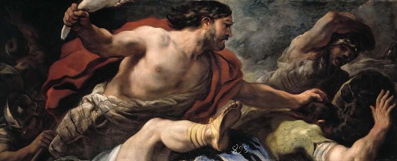 Джордано, Лука -- Самсон уничтожает филистимлян. Часть 3 Музей Прадо
