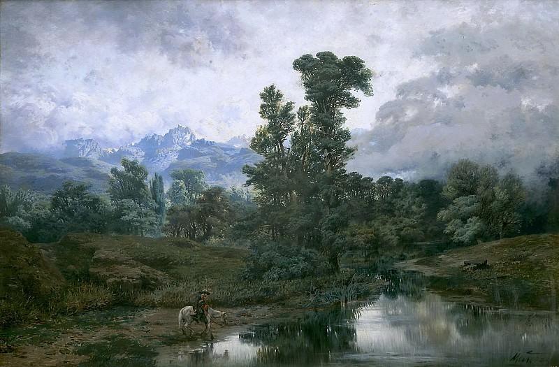 Muñoz Degrain, Antonio -- Paisaje de El Pardo al disiparse la niebla. Part 3 Prado Museum