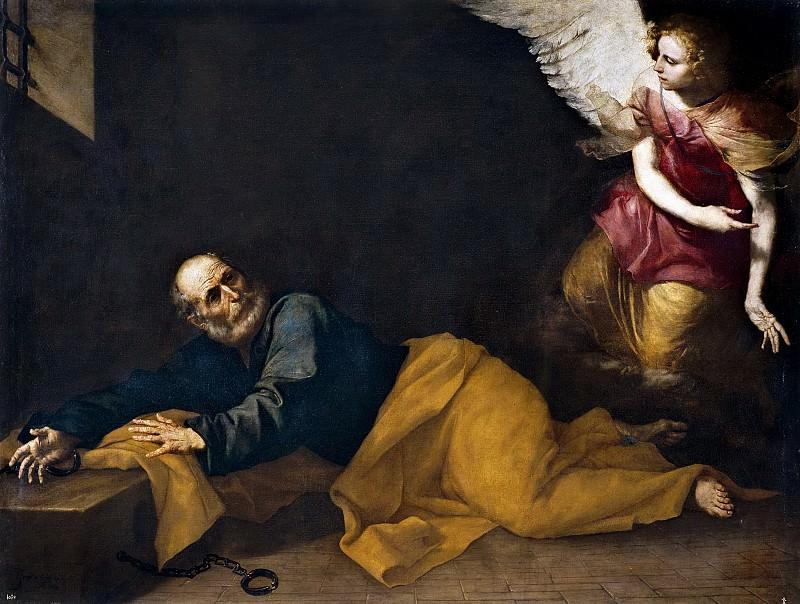 Рибера, Хусепе де -- Святой Петр, освобождаемый ангелом. Часть 3 Музей Прадо