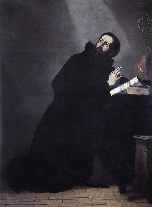 Ribera, José de -- San Agustín en oración. Part 3 Prado Museum