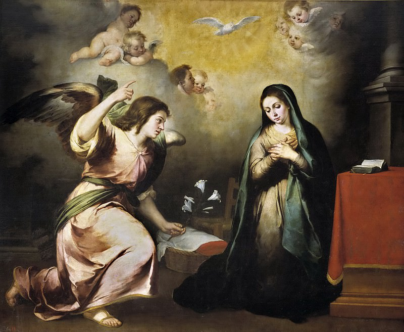 Murillo, Bartolomé Esteban -- La Anunciación. Part 3 Prado Museum