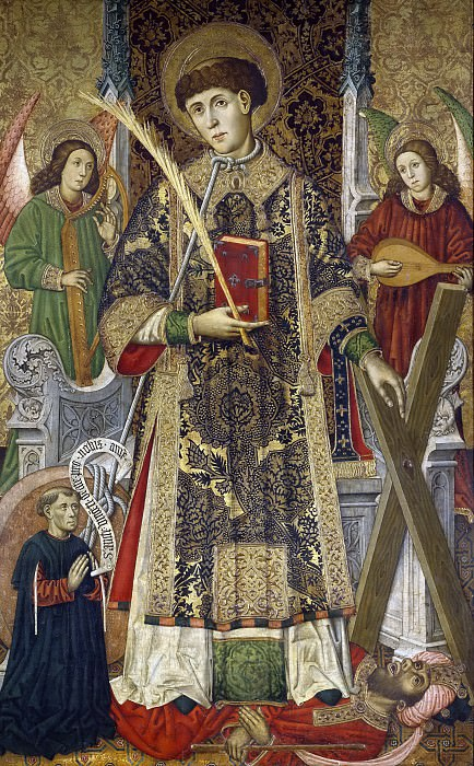 Giner, Tomás -- San Vicente, diácono y mártir, con un donante. Part 3 Prado Museum
