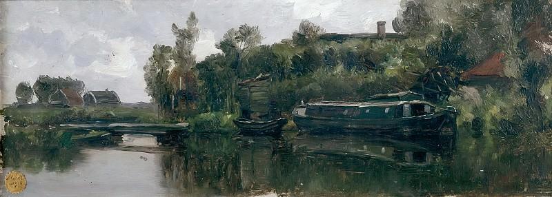 Haes, Carlos de -- Canal holandés. Part 3 Prado Museum
