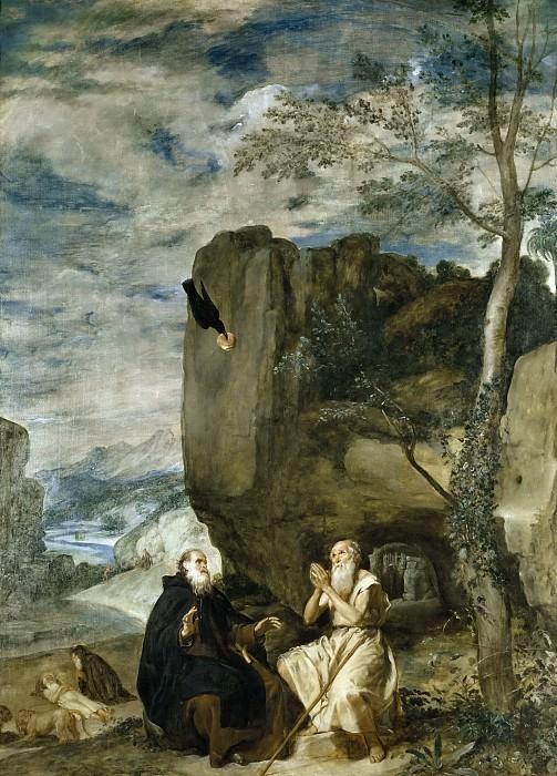 San Antonio Abad y San Pablo, primer ermitaño. Diego Rodriguez De Silva y Velazquez