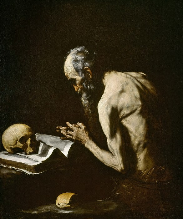 Ribera, José de -- San Pablo Ermitaño. Part 3 Prado Museum