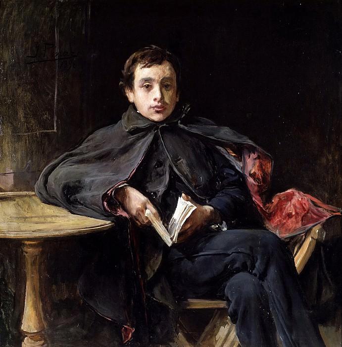 Pinazo Camarlench, Ignacio -- La lección de memoria. Part 3 Prado Museum