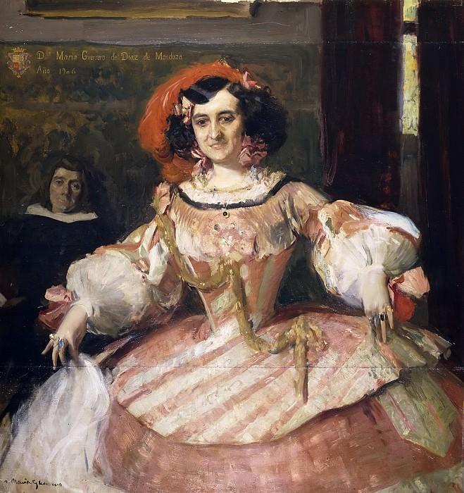 Sorolla y Bastida, Joaquín -- La actriz María Guerrero como La dama boba. Part 3 Prado Museum