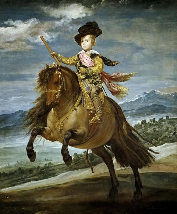 El príncipe Baltasar Carlos, a caballo. Diego Rodriguez De Silva y Velazquez