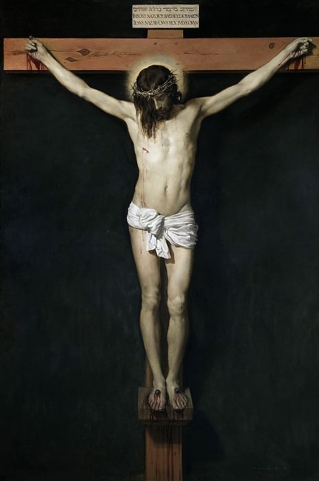 Velázquez, Diego Rodríguez de Silva y -- Cristo crucificado. Part 3 Prado Museum