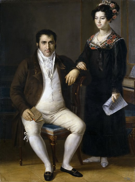 Tegeo Díaz, Rafael -- Pedro Benítez y su hija María de la Cruz. Part 3 Prado Museum