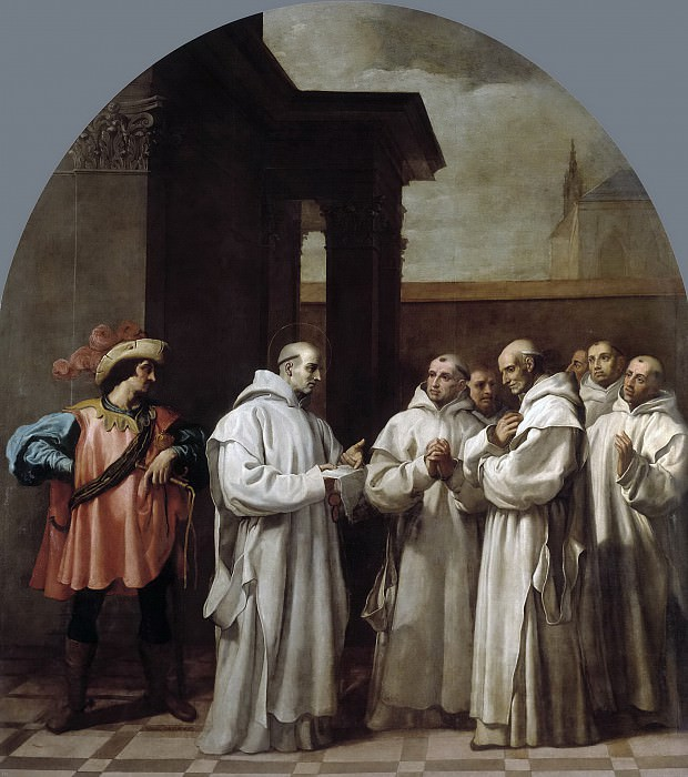 Кардучо, Висенте -- Папа Урбан II призвал святого Бруно в Рим. Часть 3 Музей Прадо