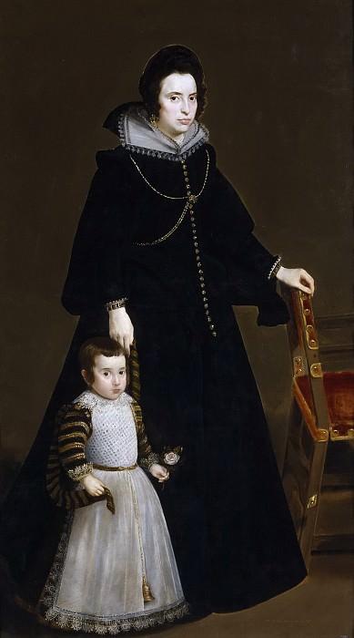 Антония де Гальдос и ее сын дон Луис. Диего Родригес де Сильва и Веласкес